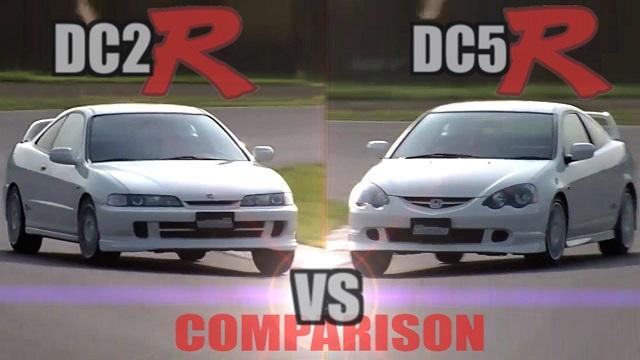 Acura Type R (DC2) vs Integra Type R (DC5) comparison