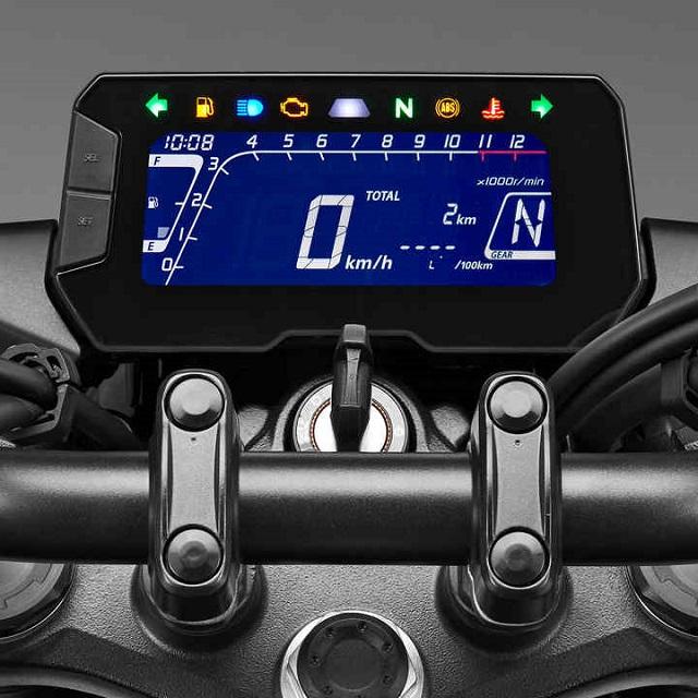 2021 Honda CB125R new infotainment