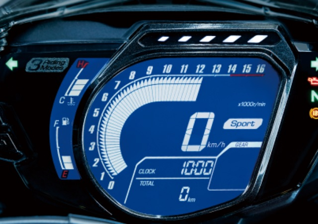 2021 Honda CBR250RR digital dash