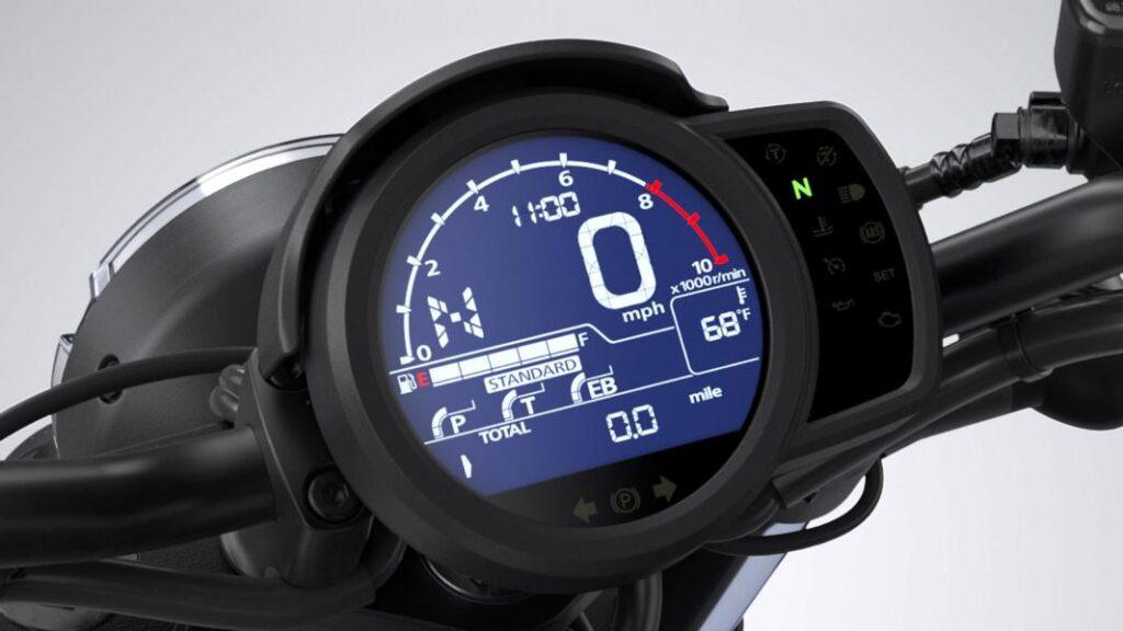 2021 Honda CMX 1100 Rebel dash