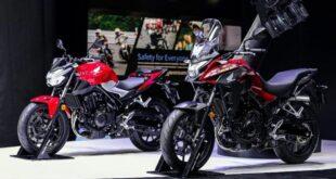 2022 Honda CB400X front